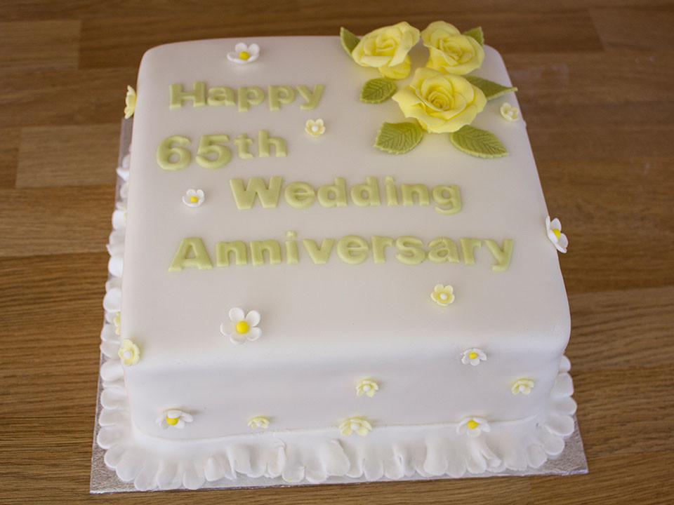 65Th Wedding Anniversary Cakes  Gallery