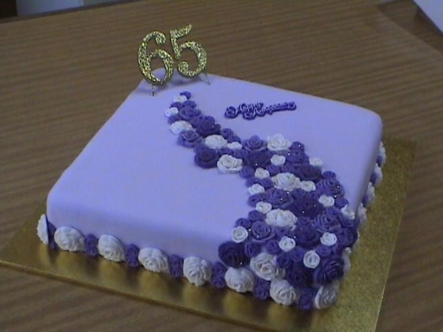 65Th Wedding Anniversary Cakes  Purple Rose 65Th Wedding Anniversary Cake CakeCentral