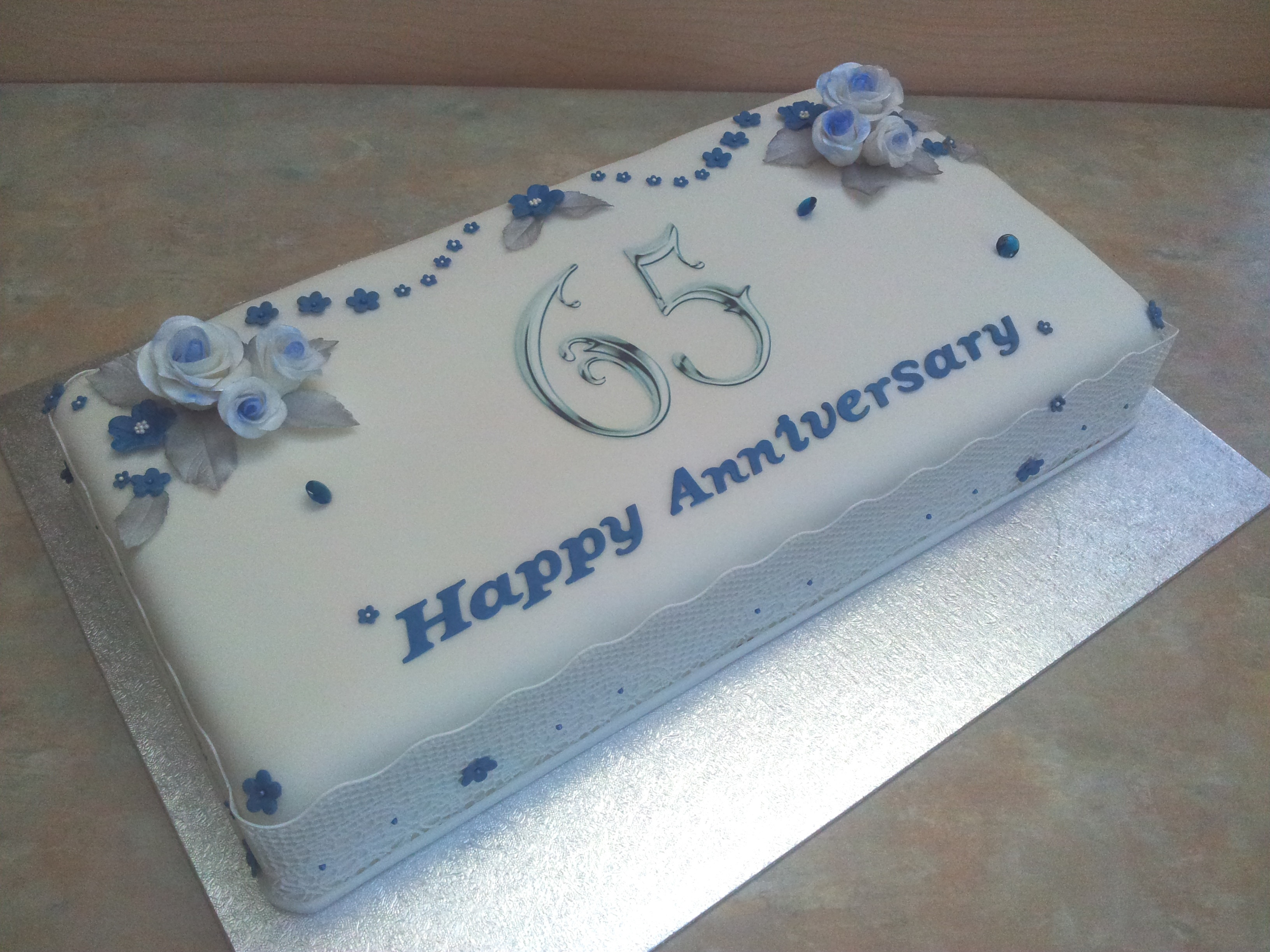 65Th Wedding Anniversary Cakes  Sweet Tracey Cakes