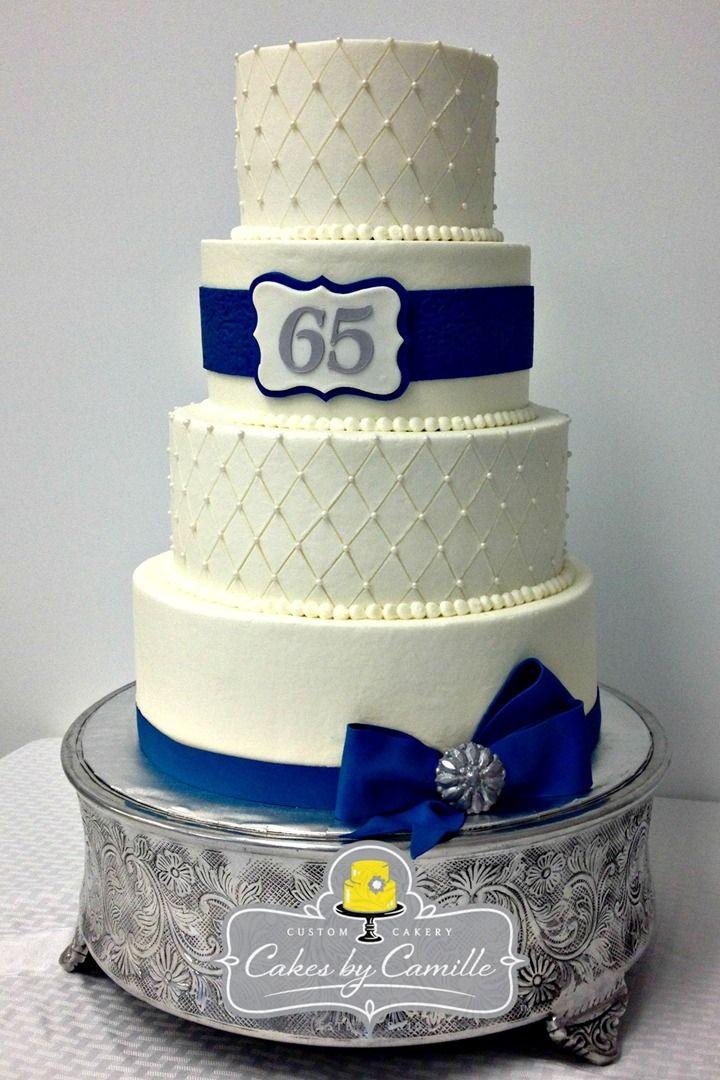 65Th Wedding Anniversary Cakes  65th Anniversary Cake wedding anniversary cake navy blue