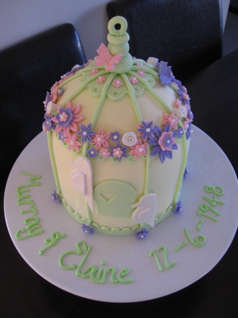 65Th Wedding Anniversary Cakes  Bird Cage Cake for a 65th Wedding Anniversary