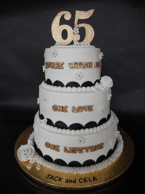 65Th Wedding Anniversary Cakes  65th Wedding Anniversary Celebration Cake
