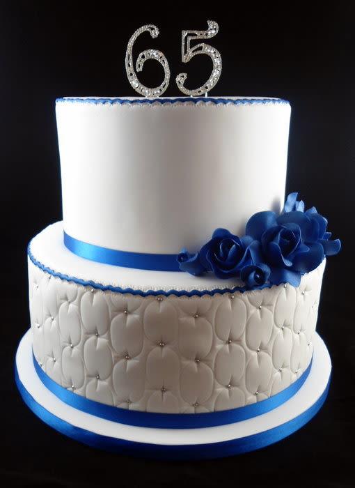 65Th Wedding Anniversary Cakes  65th Wedding Anniversary Cake by Lisa Jane Fudge