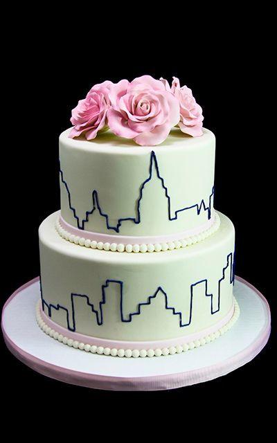 Affordable Wedding Cakes Nyc  Best 25 New york skyline ideas on Pinterest