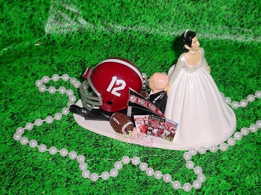 Alabama Wedding Cakes  Tan Skin Bride Alabama Crimson Tide College Football Bald