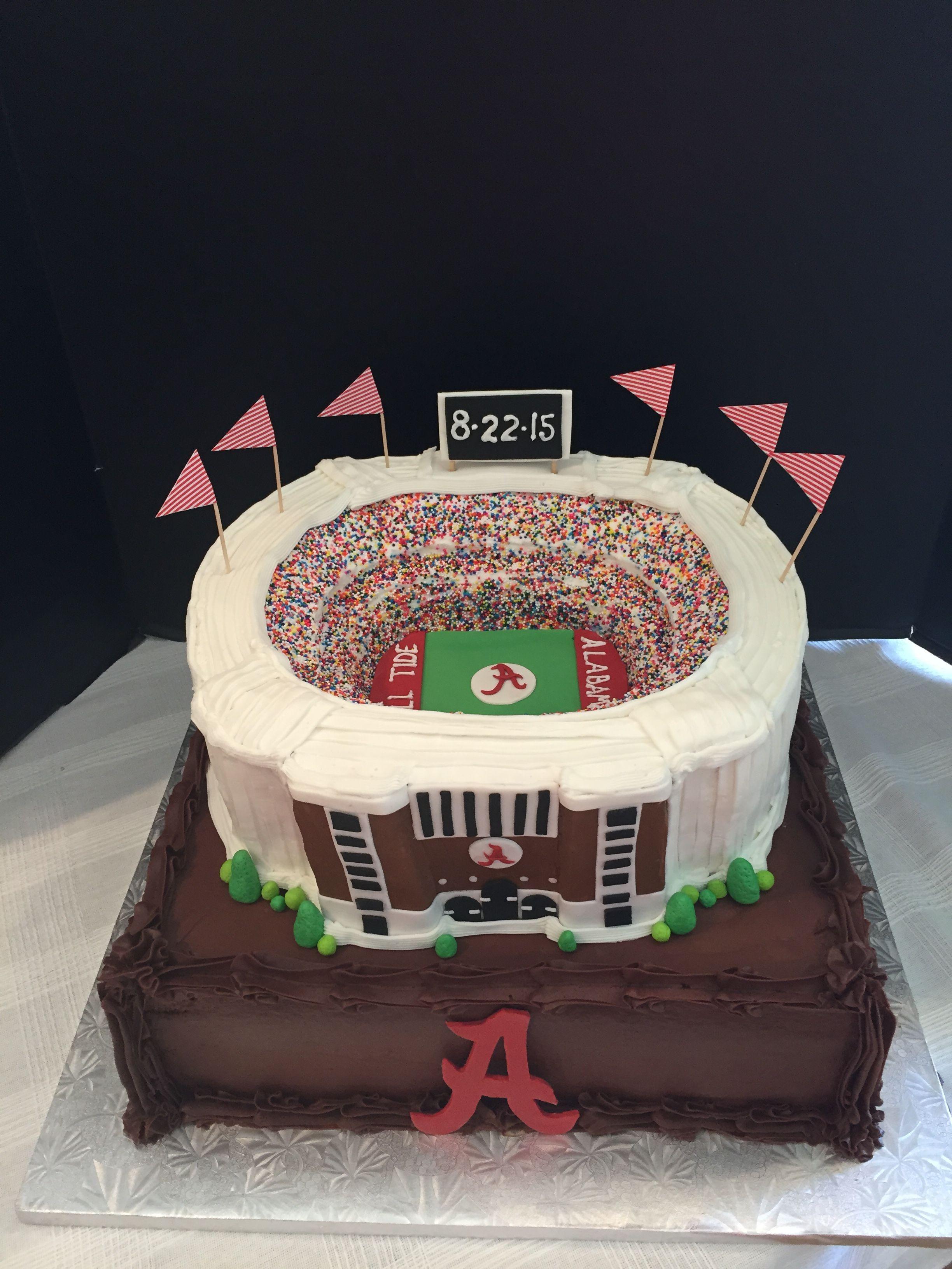 Alabama Wedding Cakes  University of Alabama Bryant Denny Stadium Grooms cake