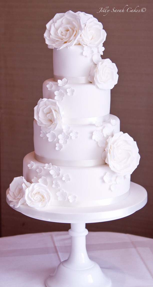 All White Wedding Cake  Lulu s Event Design Top Ten All White Wedding Cakes