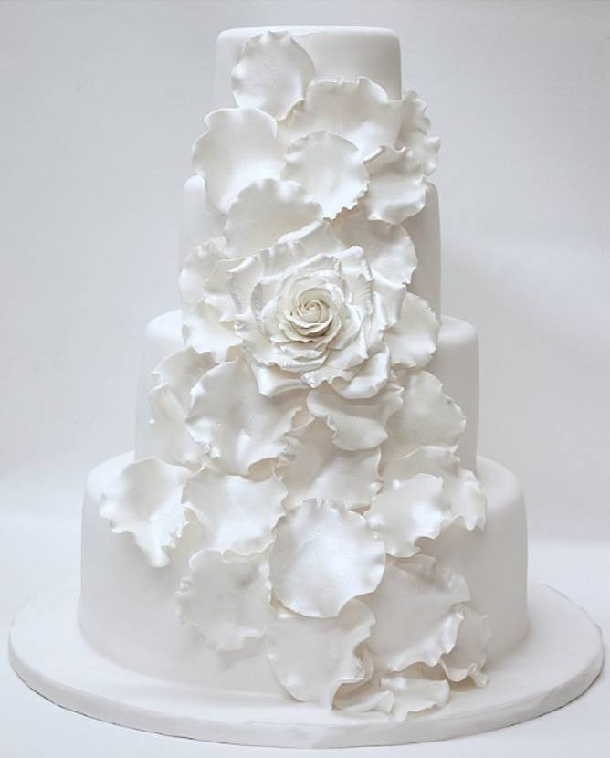 All White Wedding Cake  All White Wedding Cakes