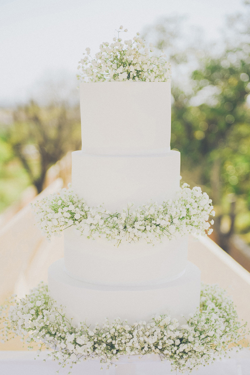 All White Wedding Cake  All White Wedding Theme Wedding Ideas by Colour