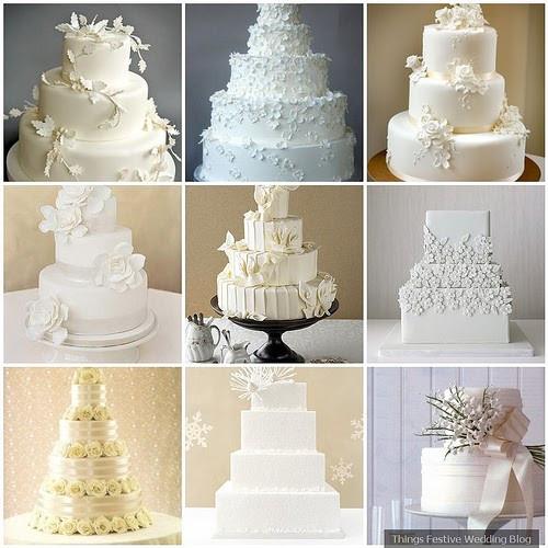 All White Wedding Cakes  All White Wedding Cakes Simple Elegance