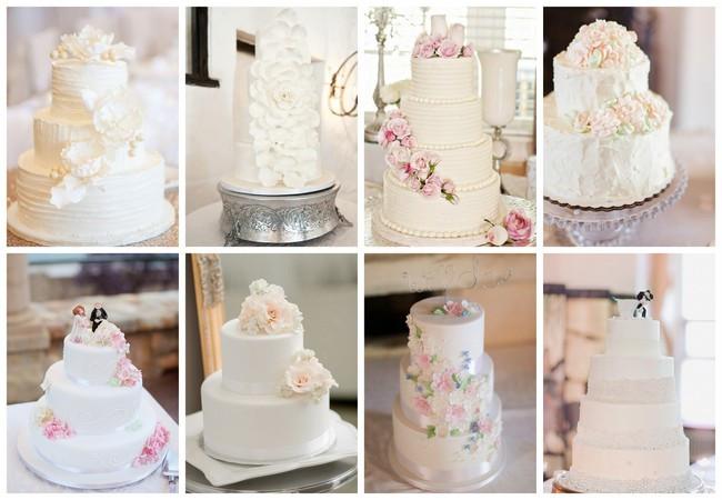 All White Wedding Cakes  25 Amazing All White Wedding Cakes