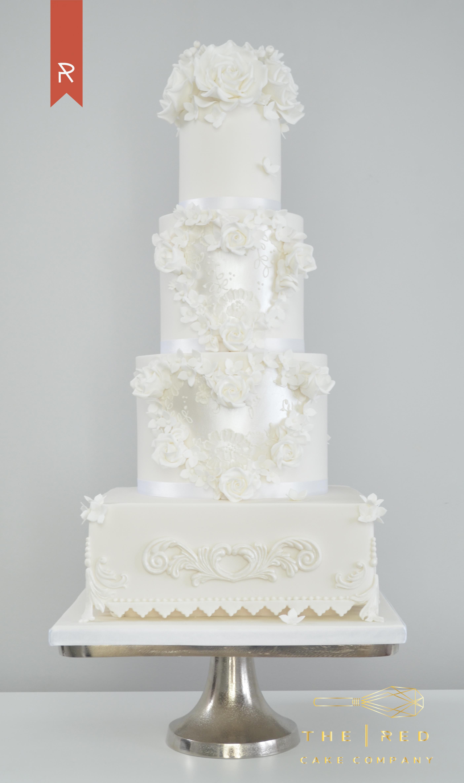 All White Wedding Cakes  Wedding Cakes