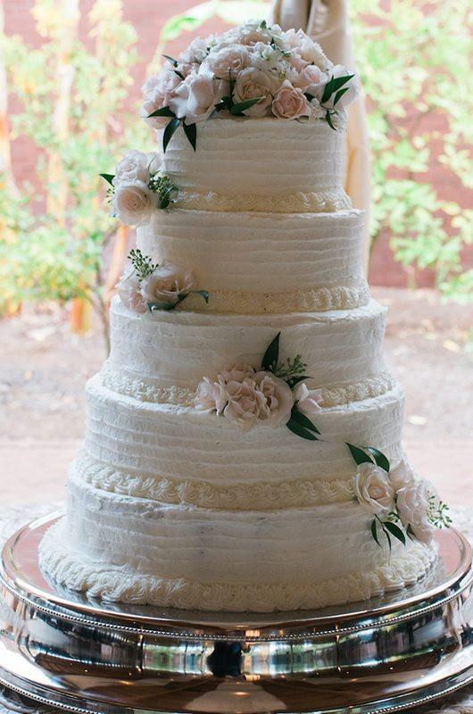 All White Wedding Cakes  5 All White Wedding Cakes