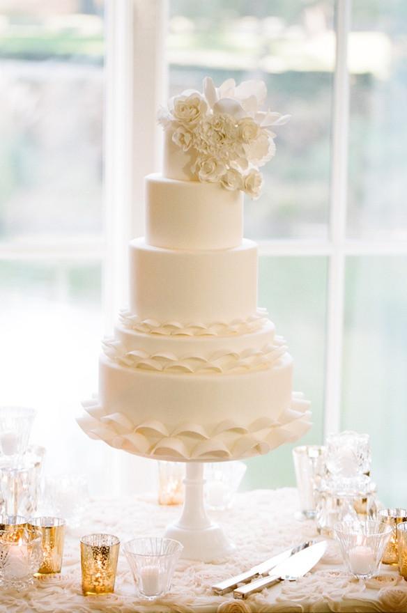 All White Wedding Cakes  blending beautiful Wedding Wednesday All White