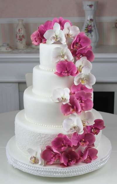 All White Wedding Cakes  All white wedding celebration cake