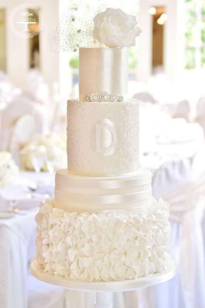 All White Wedding Cakes  60 All White Wedding Ideas For Your Glam Affair