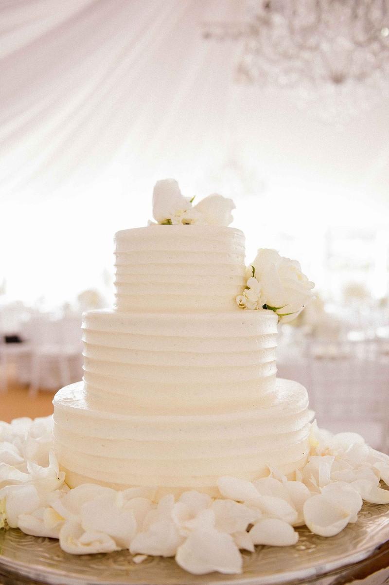 All White Wedding Cakes  Cakes & Desserts s Simple Three Layer Wedding Cake