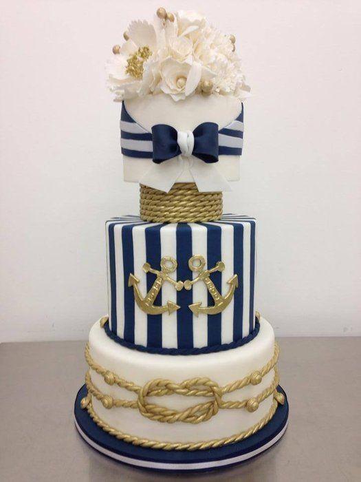 Anchor Wedding Cakes  15 Nautical Rope Wedding Cakes • DIY Weddings Magazine
