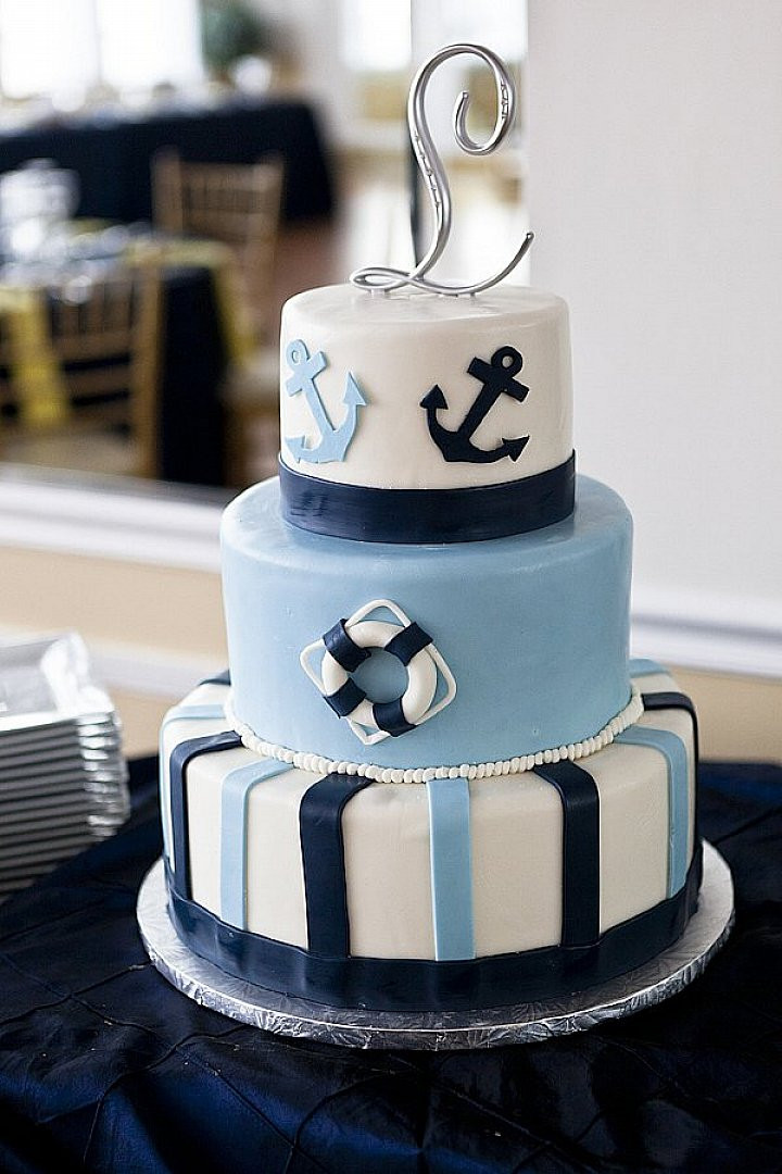 Anchor Wedding Cakes  10 Nautical Wedding Cakes Too Pretty you may not want to