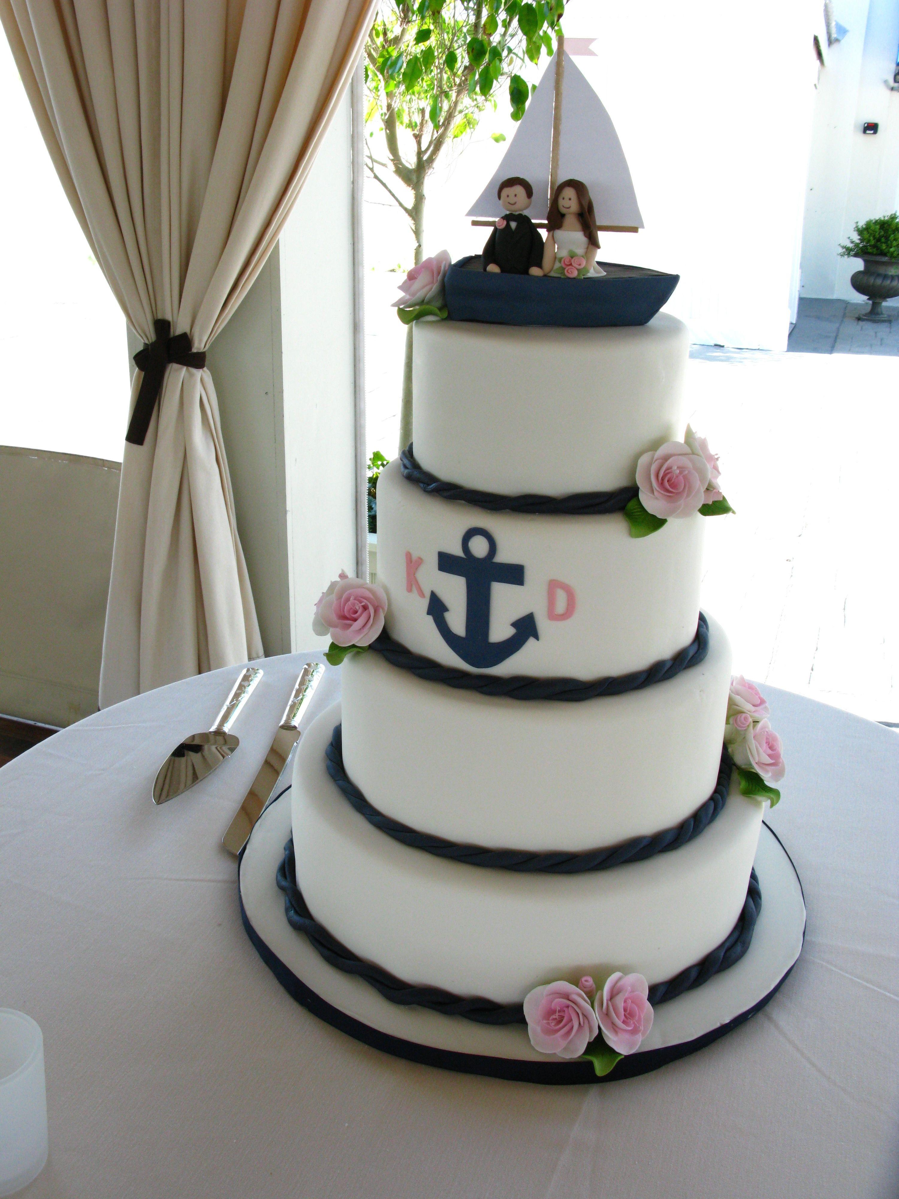 Anchor Wedding Cakes  Nautical wedding cake anchor wedding cake cute wedding