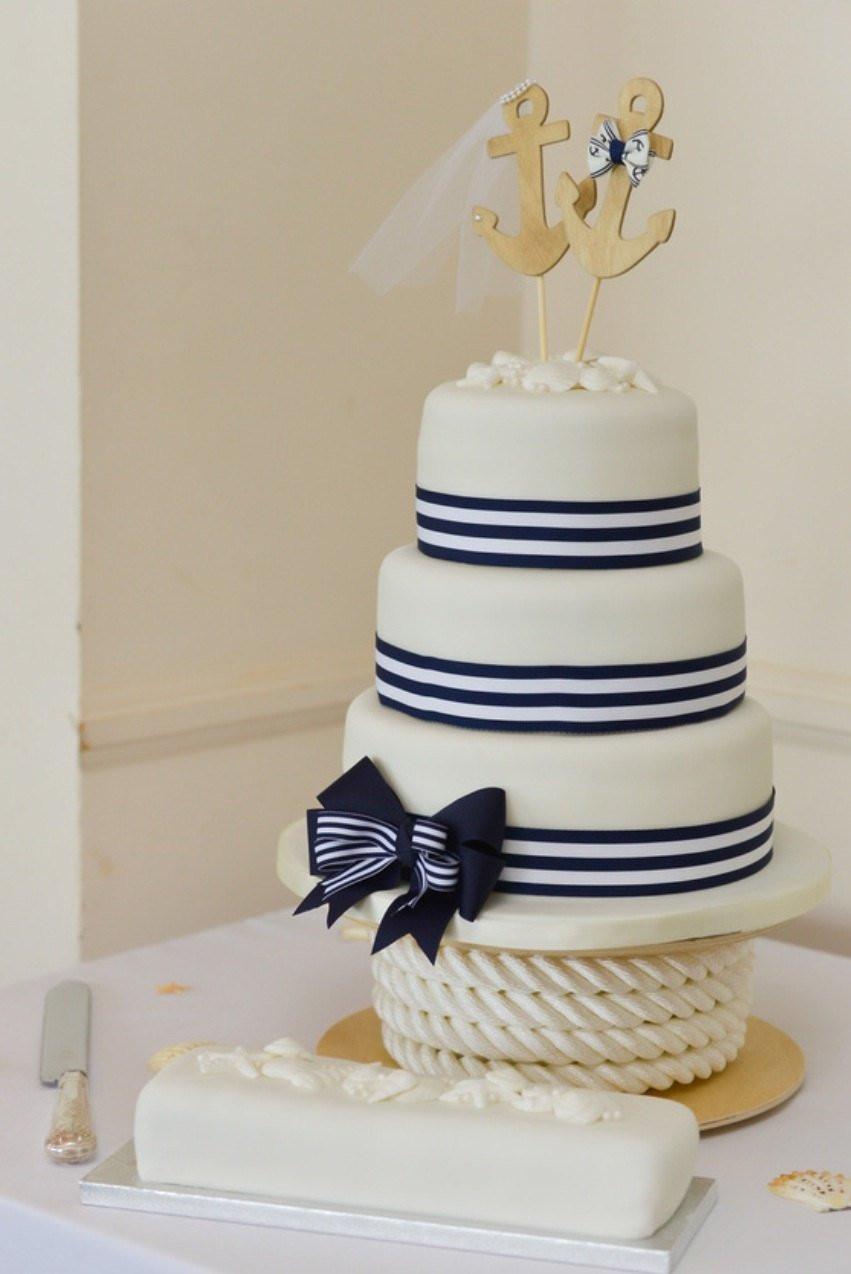 Anchor Wedding Cakes  Anchors Away wedding cake topper Anchors boat wedding cake
