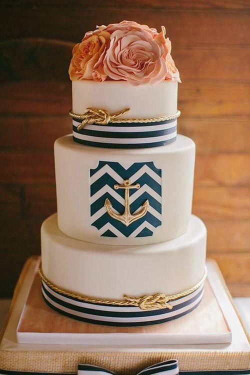 Anchor Wedding Cakes  Nautical Wedding Cakes BexBernard