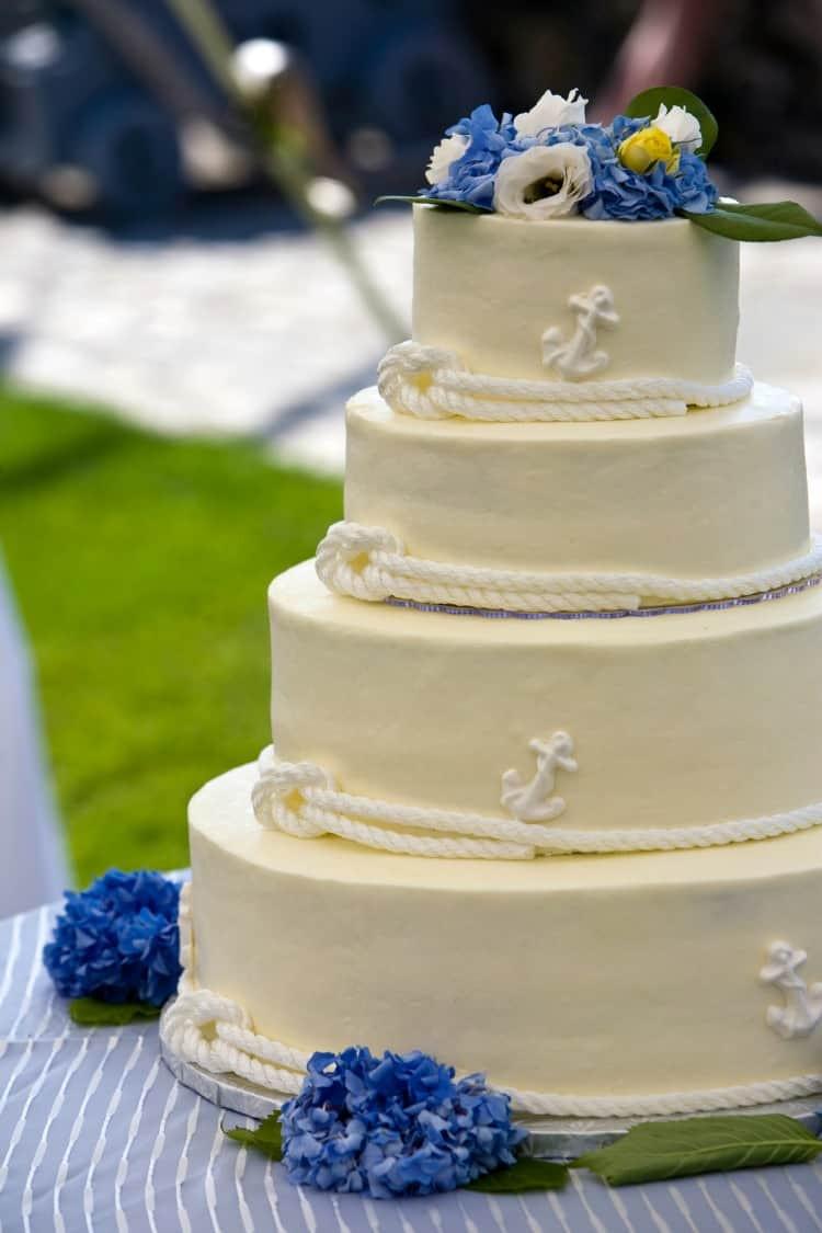 Anchor Wedding Cakes  Beach Wedding Cake Ideas Destination Wedding Details