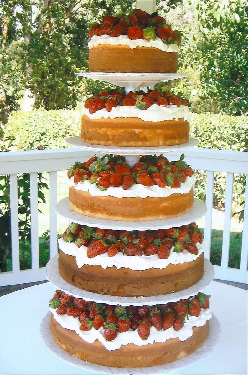 Angel Food Wedding Cakes  Angel food cake wedding cake idea in 2017