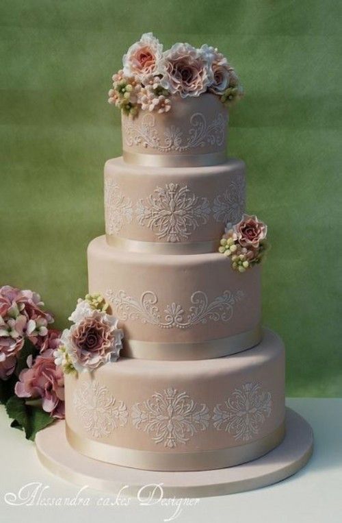 Antique Wedding Cakes  30 Chic Vintage Style Wedding Cakes With An Old World Feel