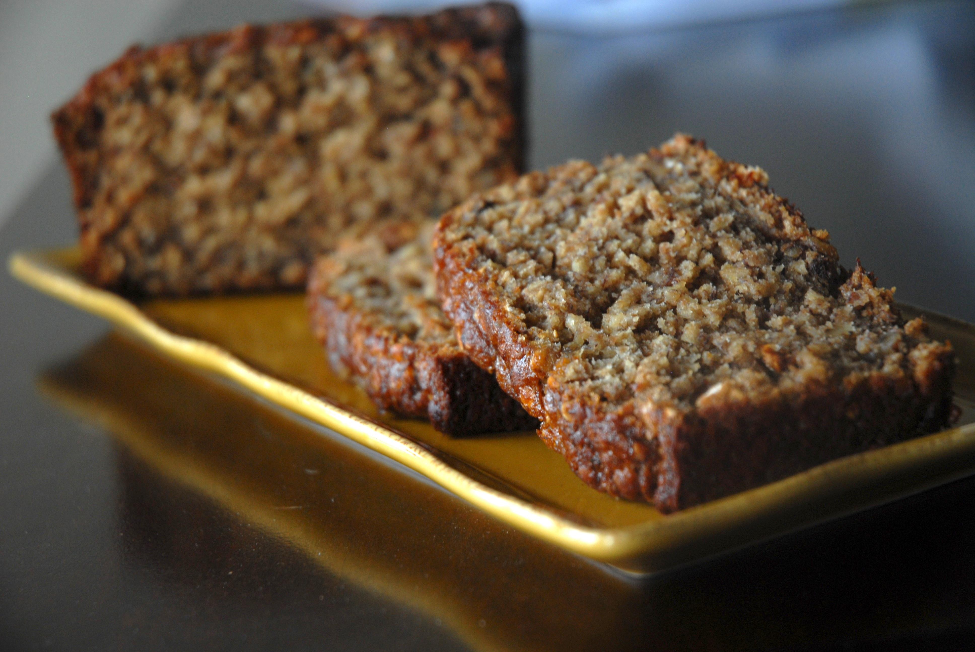 Apple Banana Bread Recipe Healthy  Whole Wheat and Oat Banana Bread