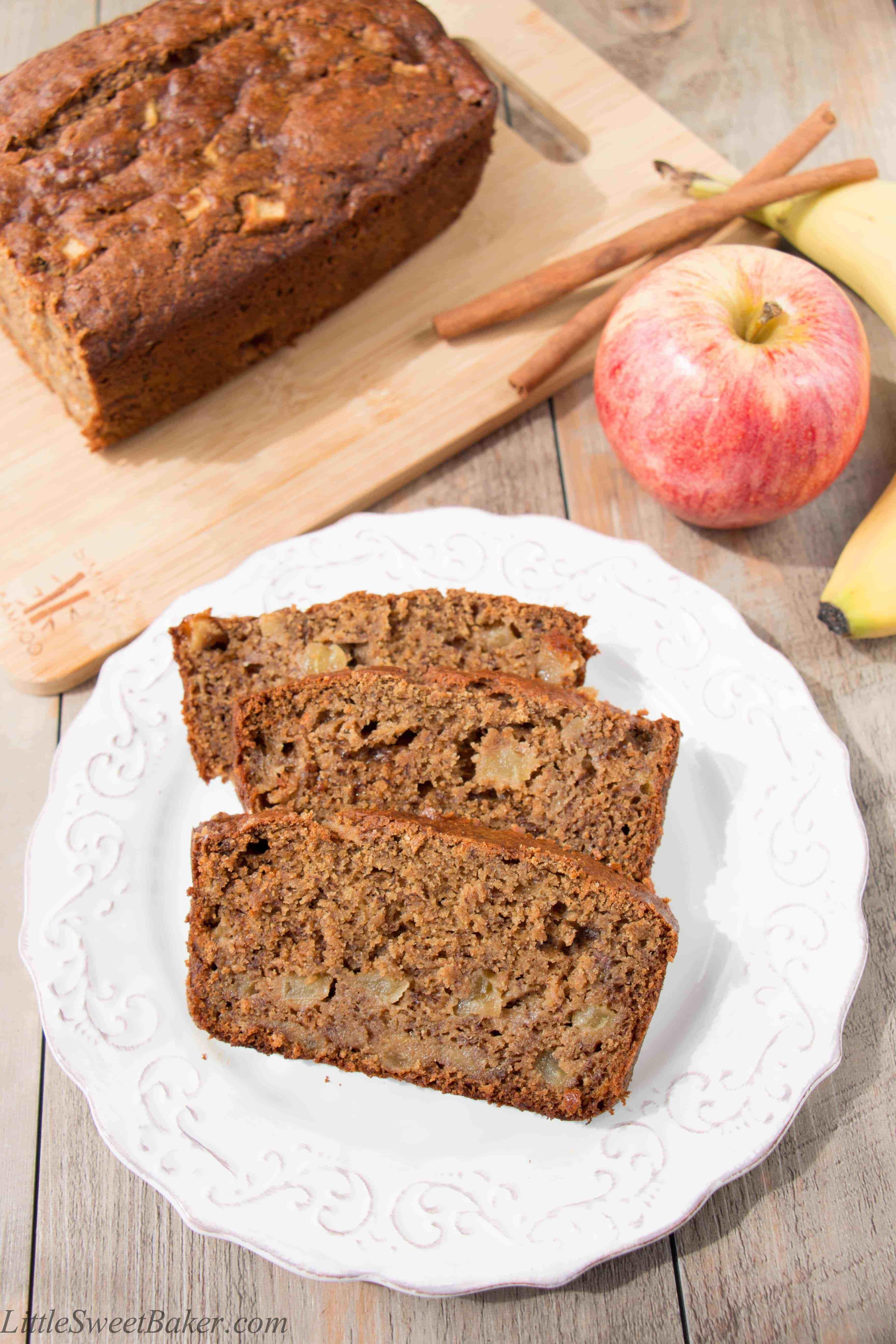 Apple Banana Bread Recipe Healthy  apple banana recipes healthy