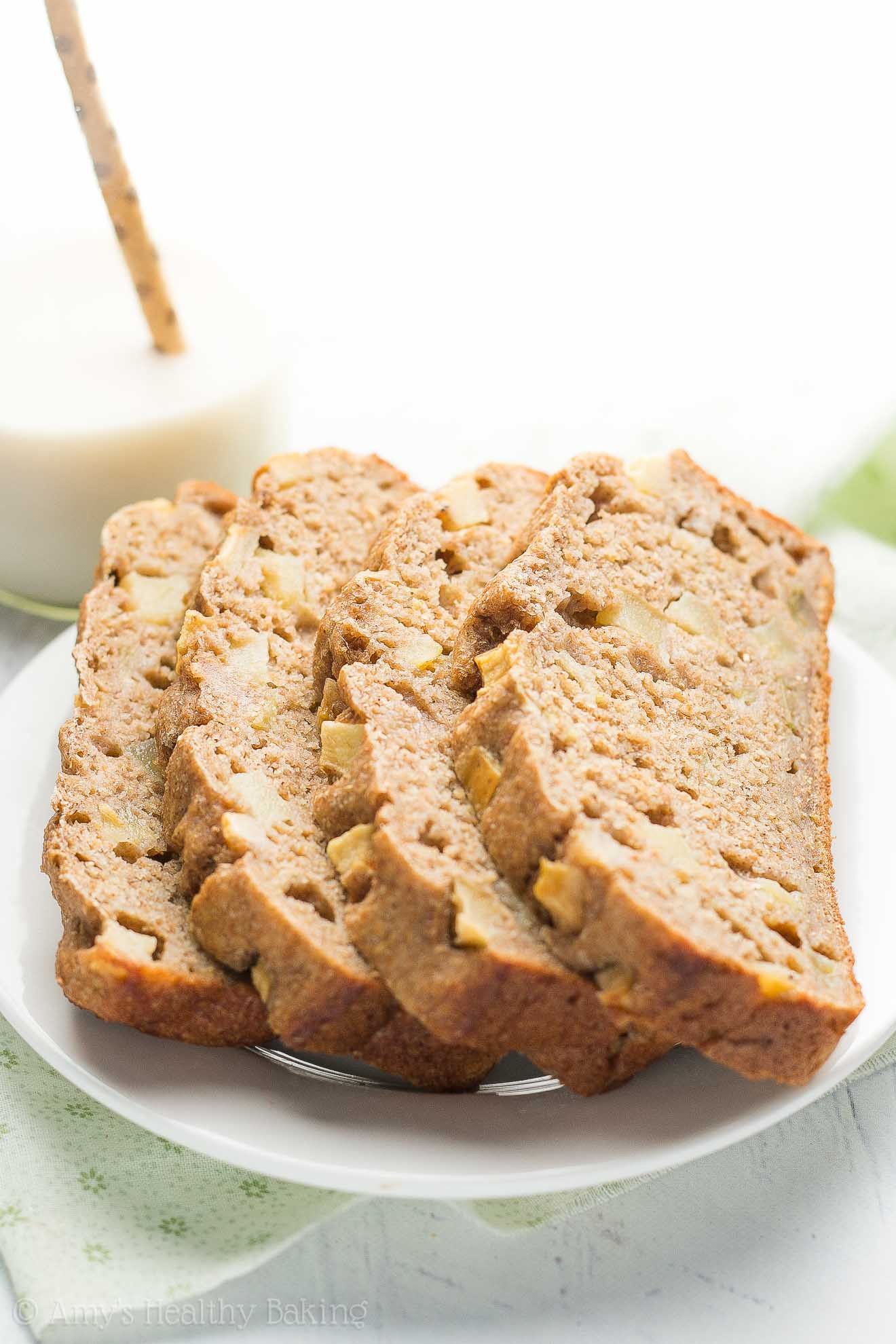 Apple Bread Healthy  Healthy Cinnamon Apple Banana Bread