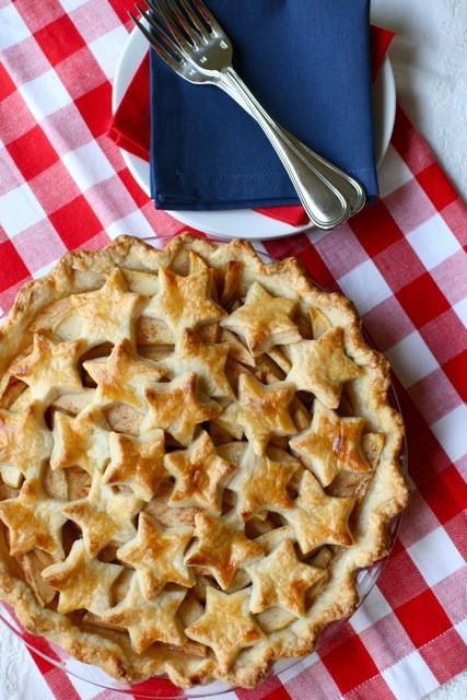Apple Pie Fourth Of July  Star Spangled Apple Pie Everyday Annie