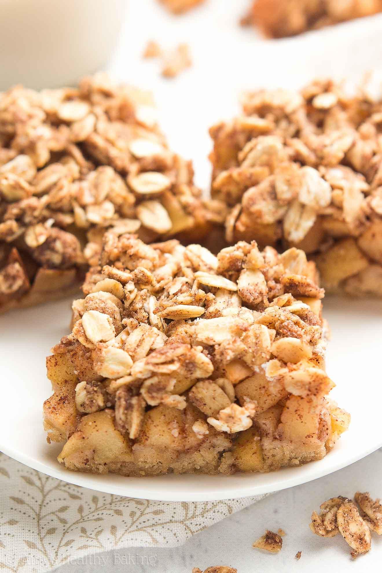 Apple Recipes Healthy  healthy apple bars