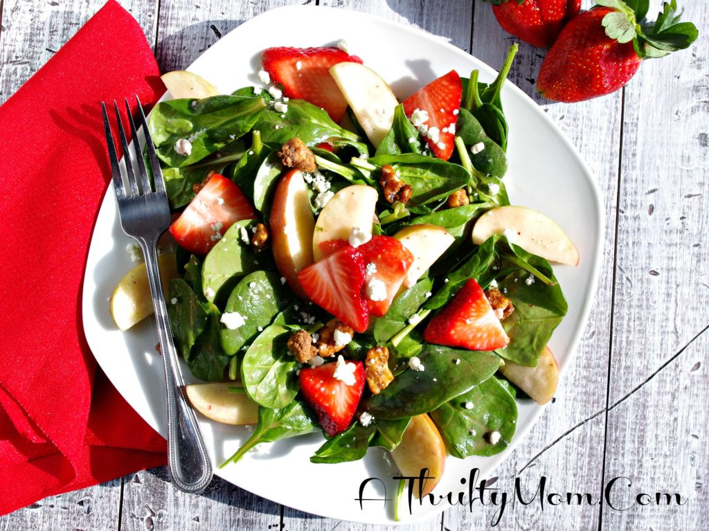 Apple Salad Recipes Healthy  Strawberry Apple Pecan Spinach Salad Healthy Valentine s