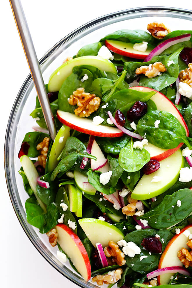 Apple Salad Recipes Healthy  My Favorite Apple Spinach Salad