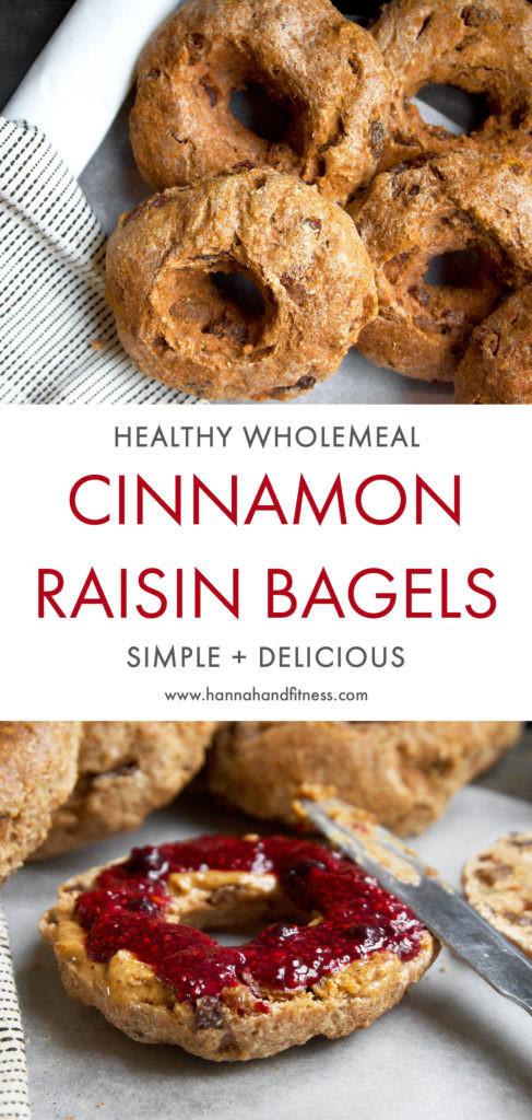 Are Bagels Healthy  Healthy Cinnamon Raisin Bagels Hannah & Fitness