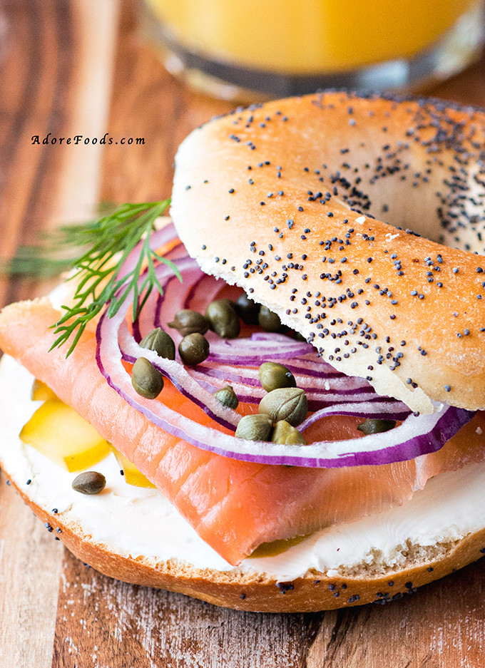 Are Bagels Healthy For Breakfast  Smoked Salmon Bagel