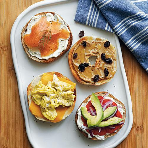 Are Bagels Healthy For Breakfast  Build Your Own Bagel Family Breakfast Recipes