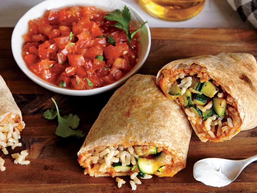Are Bean Burritos Healthy  Zucchini and Bean Burritos Healthy Burrito Recipes