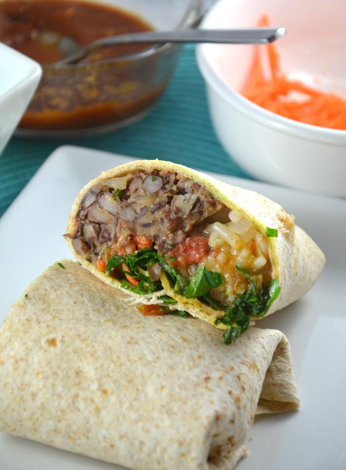 Are Bean Burritos Healthy  Chili and Lime Vegan Black Bean Burritos with Red Rice
