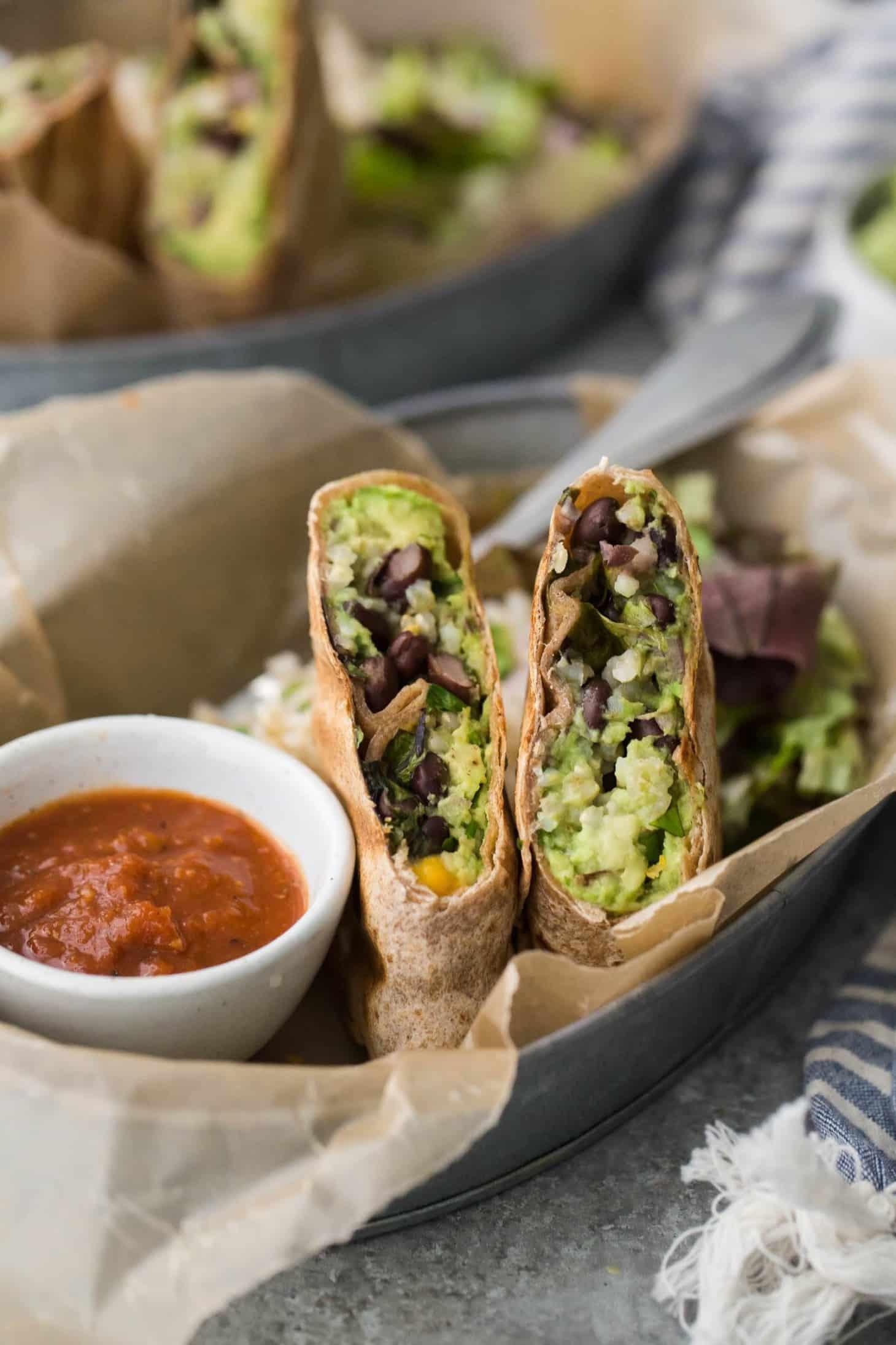 Are Bean Burritos Healthy  Black Bean Burrito with Guacamole and Brown Rice