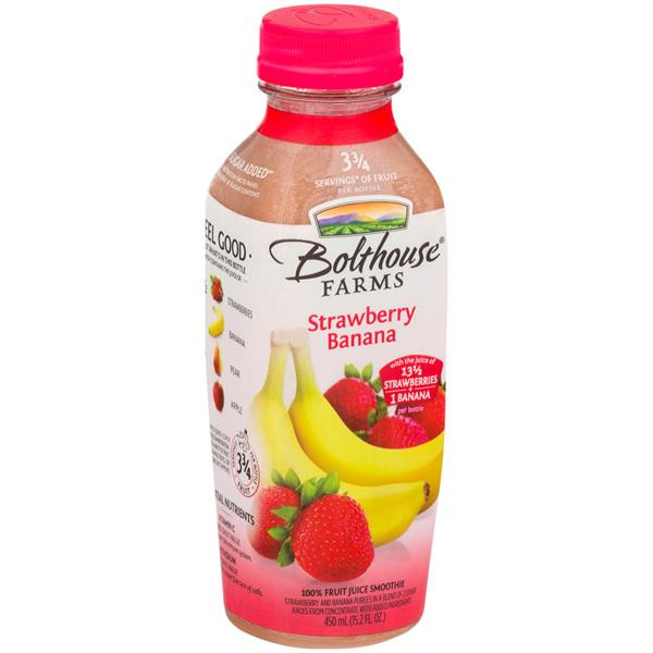 Are Bolthouse Farms Smoothies Healthy  Bolthouse Farms Strawberry Banana Fruit Juice