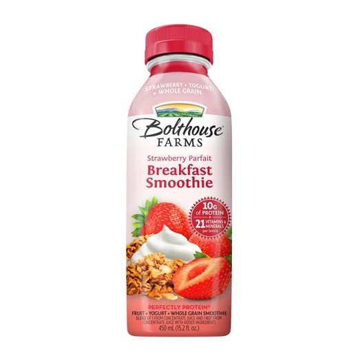 Are Bolthouse Farms Smoothies Healthy  Bolthouse Strawberry Parfait Breakfast Smoothie 15 2oz