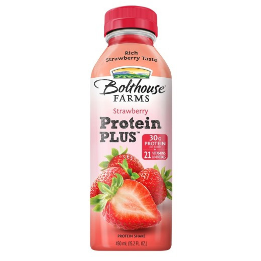Are Bolthouse Farms Smoothies Healthy  Bolthouse Farms Strawberry Protein Plus Fruit Juice