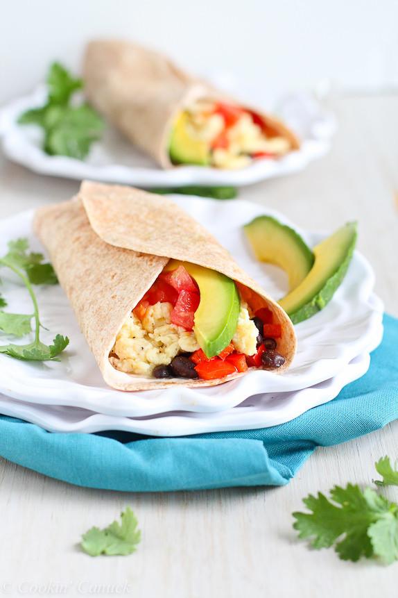 Are Breakfast Burritos Healthy  Healthy Breakfast Burrito with Avocado & Chipotle Yogurt