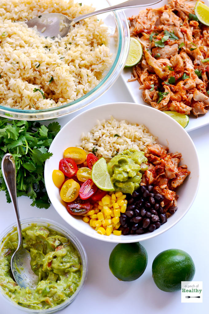 Are Burritos Healthy  Chicken Burrito Bowls Better than Chipotle A Pinch of