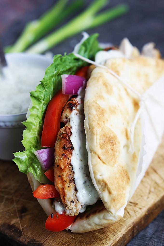 Are Chicken Gyros Healthy  EASY CHICKEN GYROS & TZATZIKI SAUCE