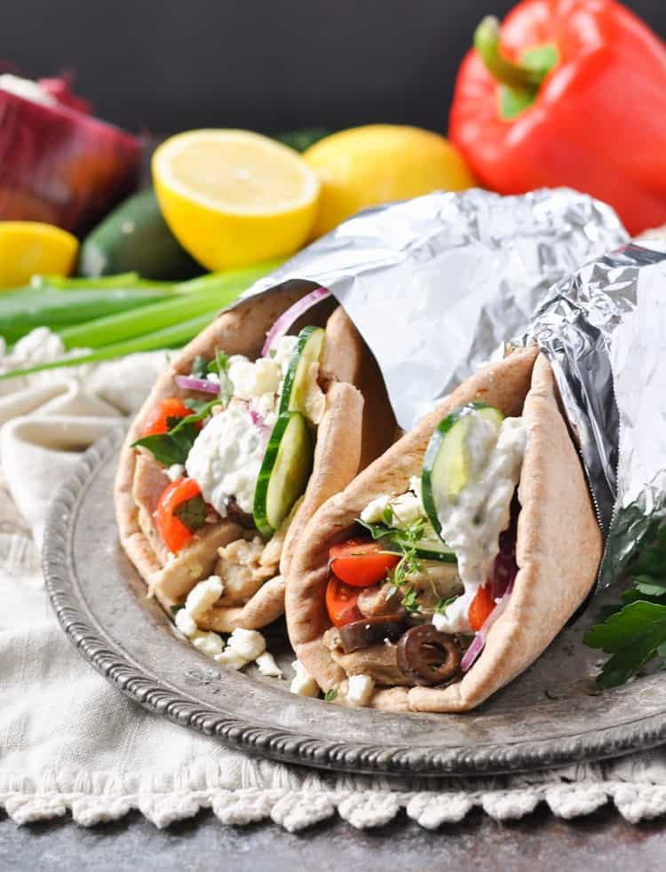 Are Chicken Gyros Healthy  Slow Cooker Greek Chicken Gyros The Seasoned Mom