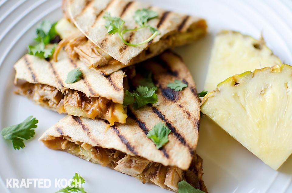 Are Chicken Quesadillas Healthy  Crock Pot BBQ Chicken & Pineapple Quesadillas